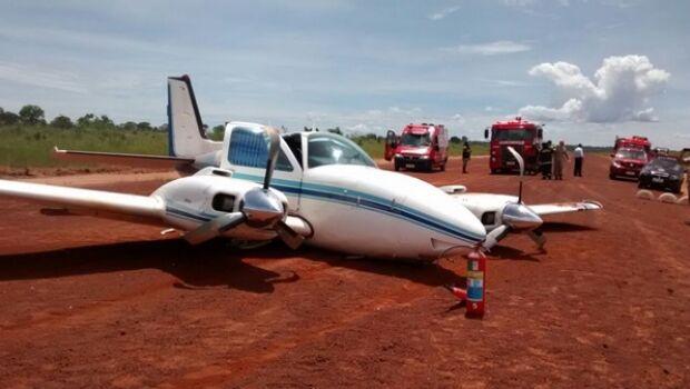 [Brasil] Avião faz pouso forçado no Aeroporto Teruel (MS) Aviaoqueda