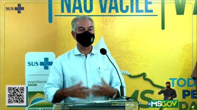 Governador faz balanço do primeiro dia de vacinação no MS