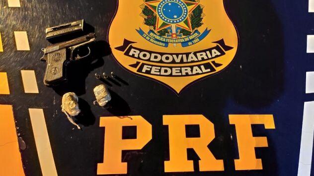 Preso portando pistola com a numeração raspada, diz revólver pertencia ao avô