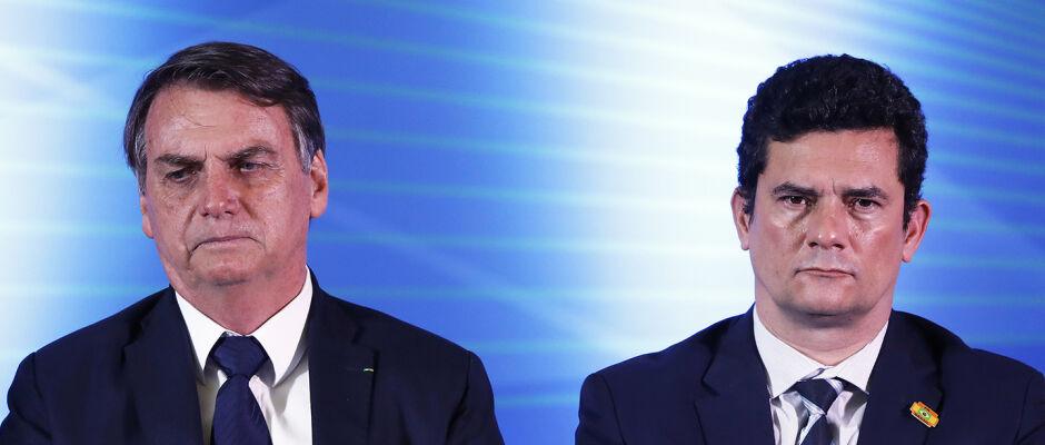 Entrevista de Moro e afronta sobre indicação na PF assustou Bolsonaro