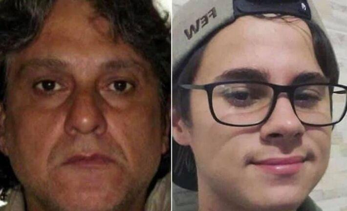A esquerda Paulo Cupertino, suspeito do assassinato do ator Rafael