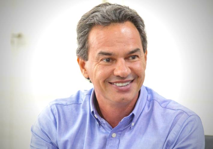 O candidato a reeleição, prefeito Marquinhos Trad