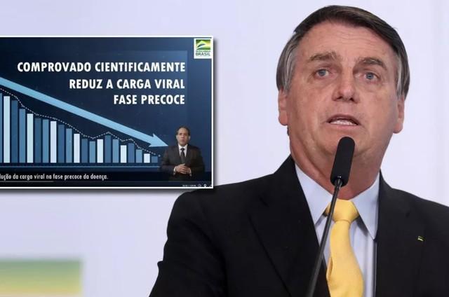 Presidente Jair Bolsonaro discursa na apresentação de vermífugo contra Covid-19