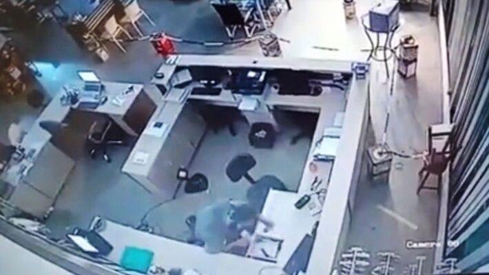 Momento da ação dos criminosos
