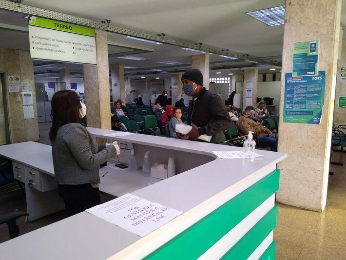 Atendimento da Funtrab em Campo Grande (MS)
