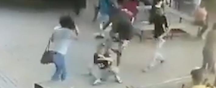 Cena de abuso contra mulher terminou em espancamento de agressor