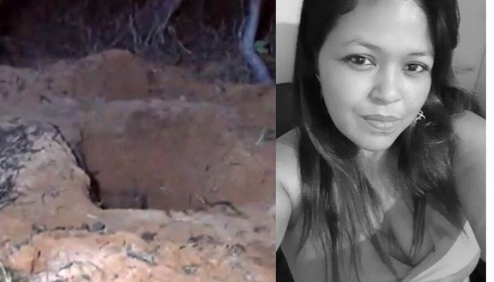 A vítima está a esquerda. A imagem foi divulga numa rede social  por uma parente de Mirian