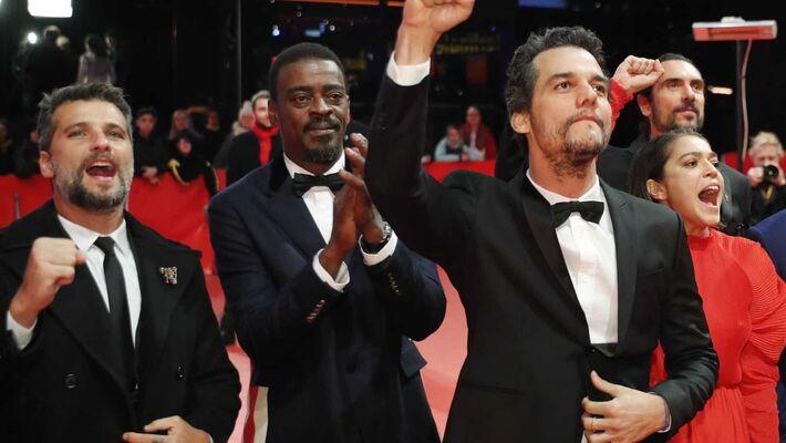Na imagem, da esquerda para direita: Bruno Gagliasso, Seu Jorge e Wagner Moura