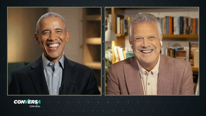 Barack Obama e Pedro Bial