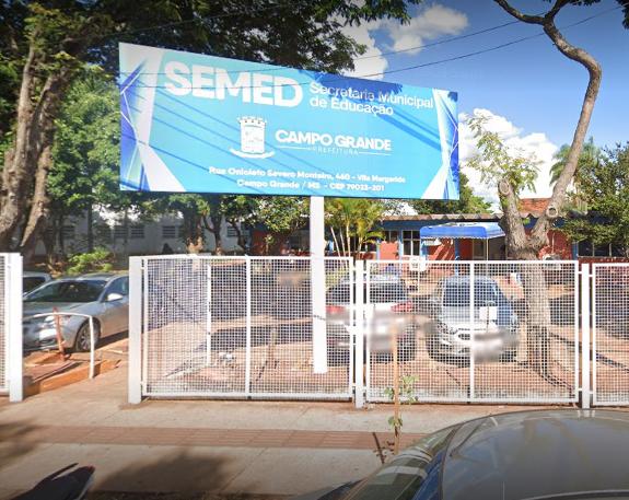 Fachada da Semed em Campo Grande (MS)