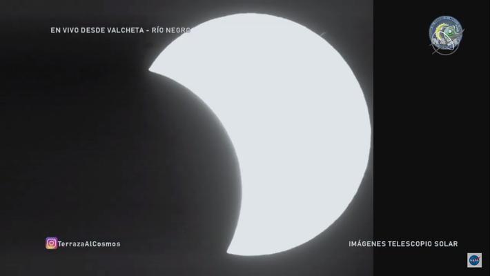 Imagem do Eclipse que ocorre hoje