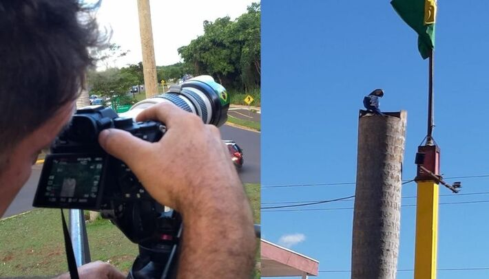 Equipe capturando aves na Capital