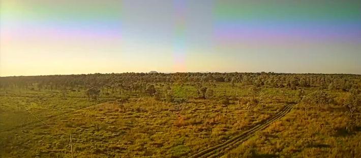 Céu em Corumbá durante o amanhecer desta 6ª-feira