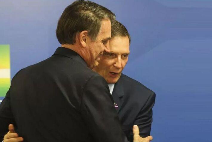 Jair Bolsonaro e Marcelo Crivella; presidente declarou seu apoio ao atual prefeito