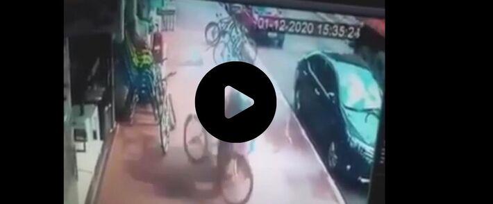 Mulher foi atingida por rodas de carreta em Amambaí (MS)