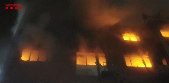 Badalona, incêndio
