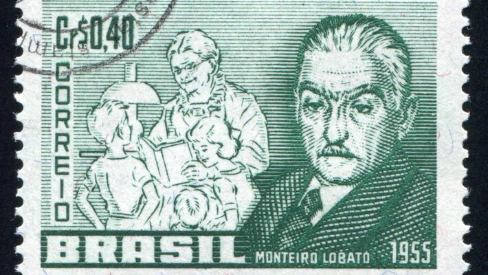 Selo em homenagem a Monteiro Lobato