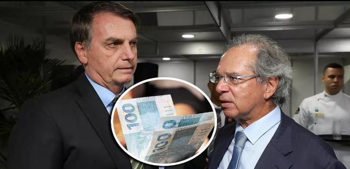 Jair Bolsonaro e o ministro da Economia, Paulo Guedes