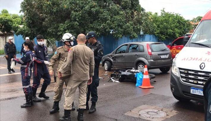 A condutora não sofreu ferimentos graves