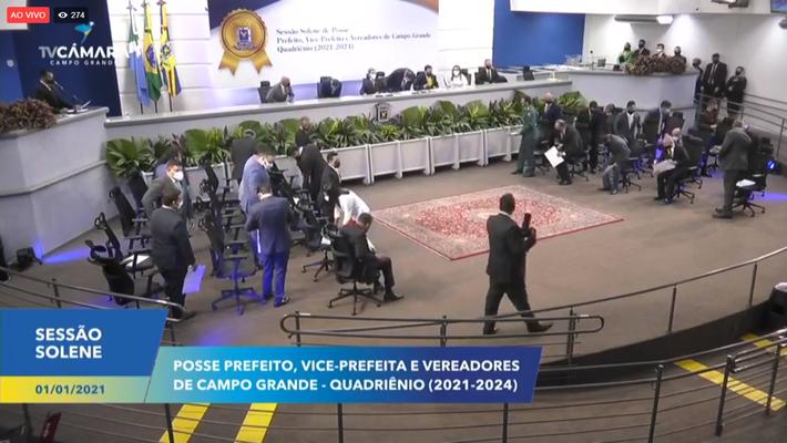 Vereadores eleitos em Campo Grande tomam posse