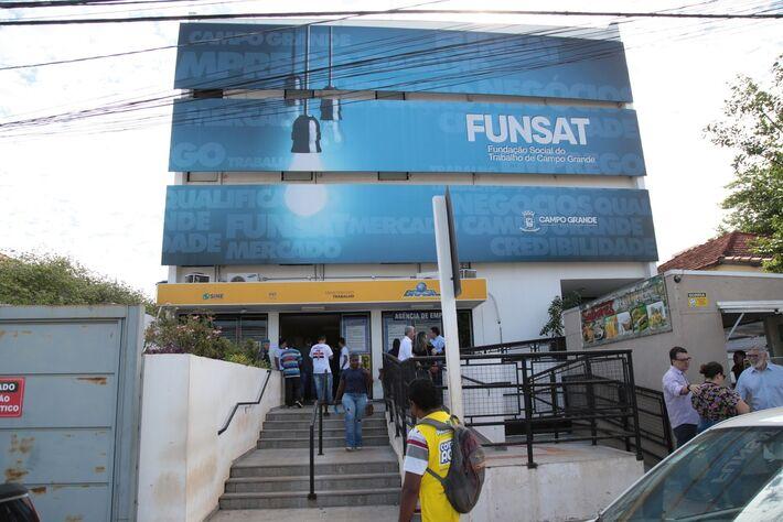 Fachada da Funsat em Campo Grande (MS)