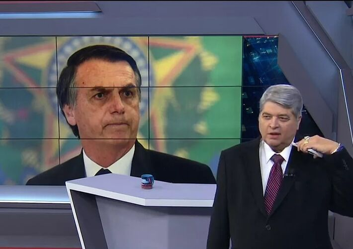 Luiz Dantena durante entrevista a Bolsonaro