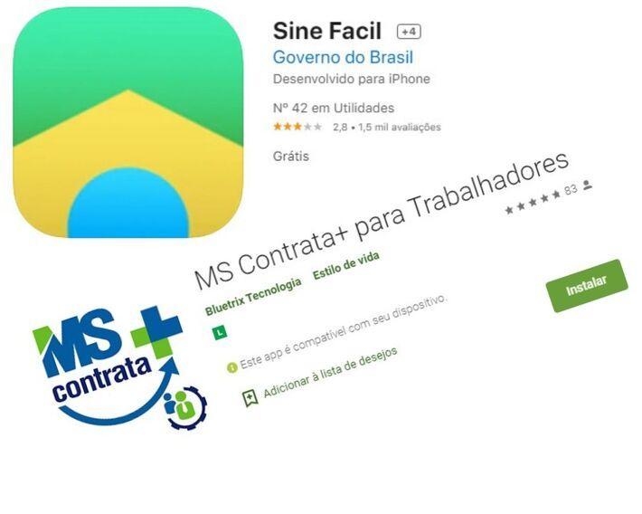 Apps da Funtrab e Funsat estão disponíveis para download em ambas as lojas digitais de aplicativos, para Android e iOS