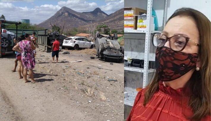 Acidente de veículos em Itapajé deixa dois feridos, e prefeita interrompe solenidade de posse para atender os pacientes