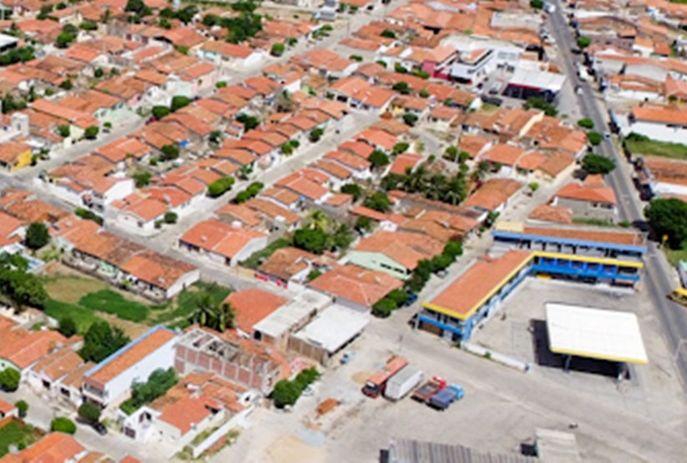 Imagem aérea do municipio de  Santa Cruz, na Paraíba