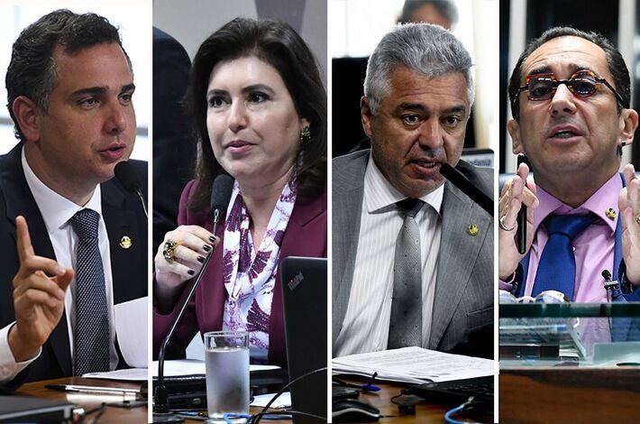 Até o momento, Rodrigo Pacheco (DEM-MG), Simone Tebet (MDB-MS), Major Olimpio (PSL-SP) e Jorge Kajuru (Cidadania-GO) disputam a presidência da Casa; eleições acontecem no início de fevereiro