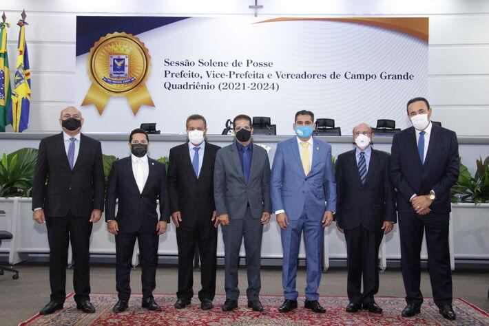 Carlão como presidente, e Dr. Loester, Betinho, Delei Pinheiro, Papy e Ronilço Guerreiro
