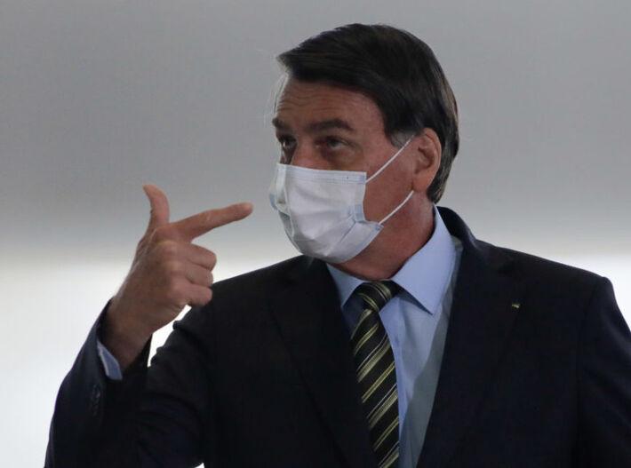 Bolsonaro em evento no Palácio do Planalto