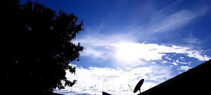Céu em Campo Grande durante a manhã desta 6ª-feira