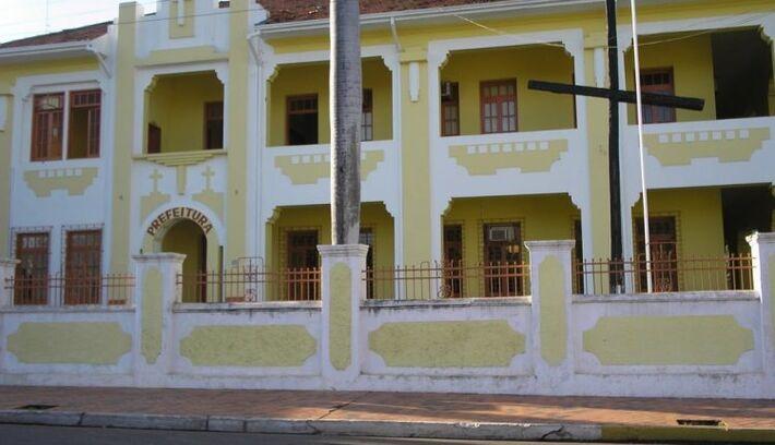 Fachada da Prefeitura de Miranda, no interior de MS