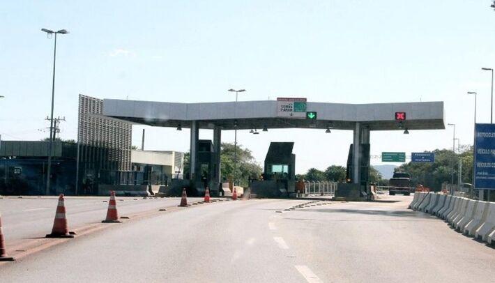 O pedágio da Ponte do Rio Paraguai, na BR-262, entre Miranda e Corumbá, no MS, teve aumento a partir de 0h do dia 1º de janeiro de 2021