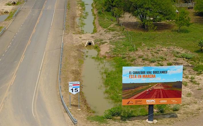 Trecho paraguaio da Rota, na fronteira com MS inaugurado ainda em 2019.