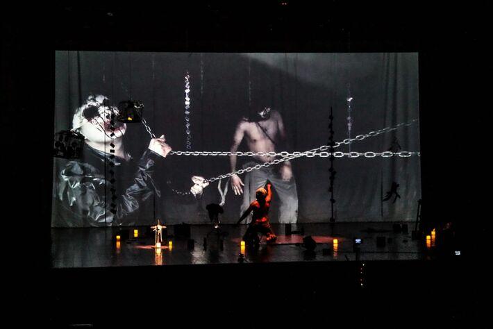 Epetáculo Teatral Cérebro Edgar, um dos participantes do Festival