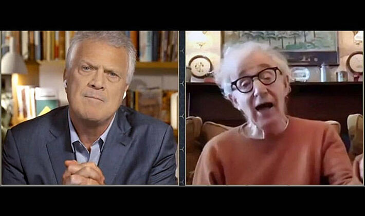 Woody Allen abre nova temporada de Conversa com Bial. Pedro Bial retorna com entrevistas inéditas direto de sua casa