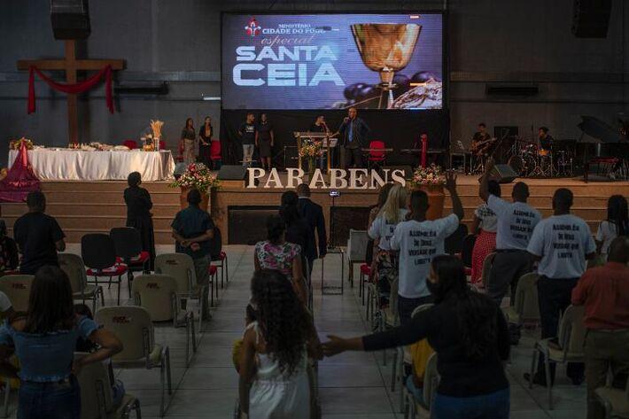 Festa de aniversário da deputada federal Flordelis, em igreja de São Gonçalo (RJ)