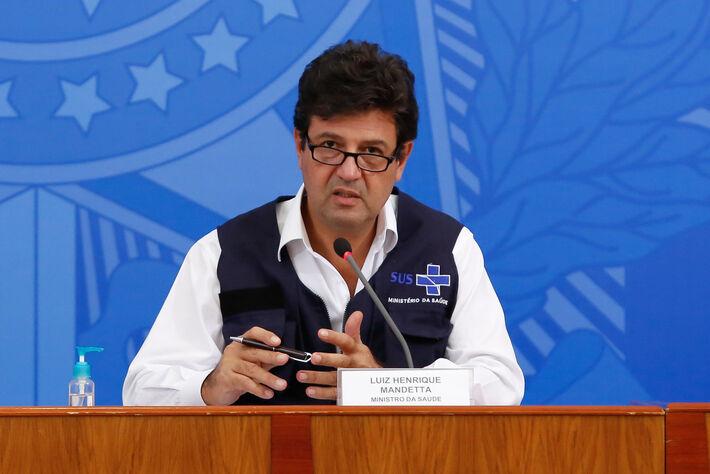 (Brasília - DF, 08/04/2020) Palavras do Ministro de Estado da Saúde, Luiz Henrique Mandetta.