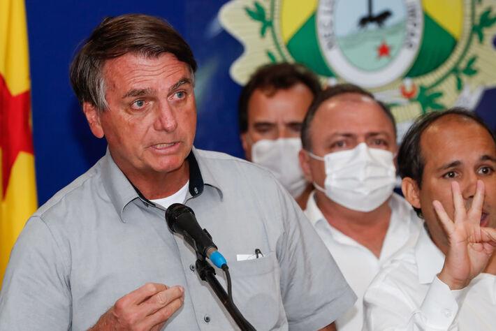 Sobrevoo a áreas afetadas por enchentes em Sena Madureira no Acre e coletiva de imprensa no Aeroporto de Rio Branco. (Sena Madureira - Acre, 24/02/2021)