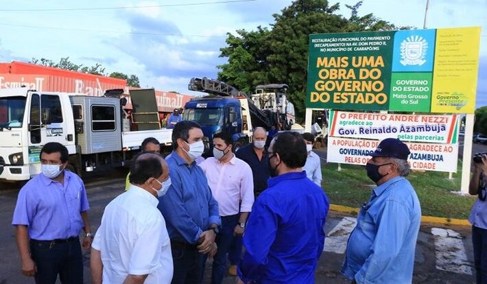 As obras de pavimentação e restauração de 296 quilômetros de rodovias foram lançadas pelo governador Reinaldo Azambuja