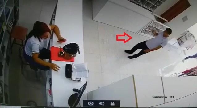 Violência registrada pelas câmeras