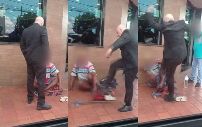 Homem bate sem motivos em limpador de parabrisas
