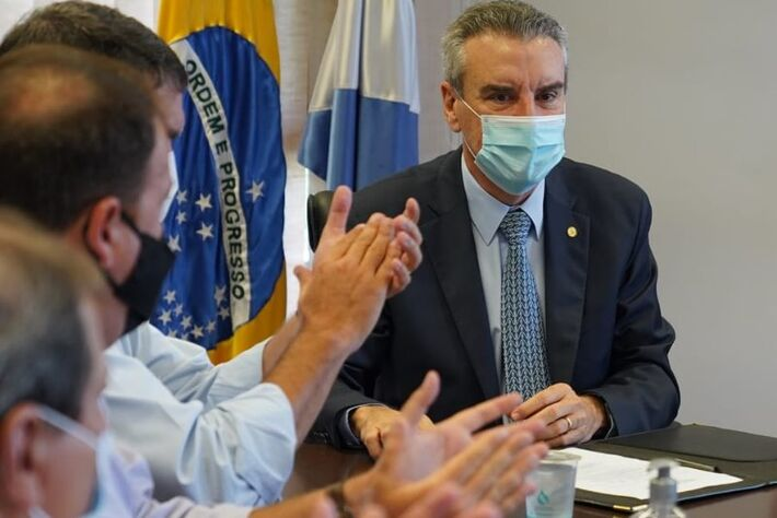 Esse é Paulo Corrêa, em 26/01/2021, quando assumiu compromisso com Governo do Estado