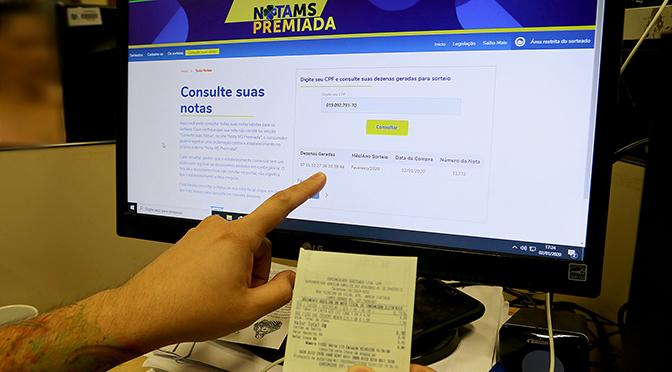 """Resultado está no """"troféu em verde"""" no site da Nota MS Premiada"""