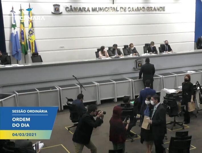 Ordem do dia 04.mar.2021 aprovou dois projetos distintos na Câmara Municipal de Campo Grande