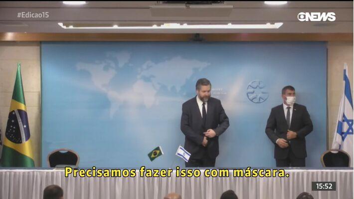 Alteração adiou em um dia principal compromisso da comitiva brasileira, a reunião com representantes do Hospital Ichilov, de Tel Aviv, para discutir a adoção de um spray nasal contra o coronavírus