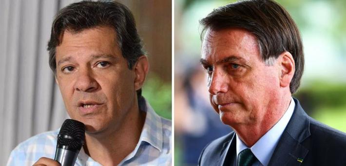 Fernando Haddad e Bolsonaro