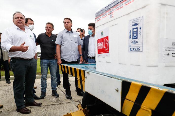 (Rio Branco - Acre, 24/02/2021) Chegada de novo lote de vacinas contra a Covid-19 da AstraZeneca/Oxford ao Acre.